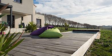 Terrasse mobile de piscine en Haute Garonne
