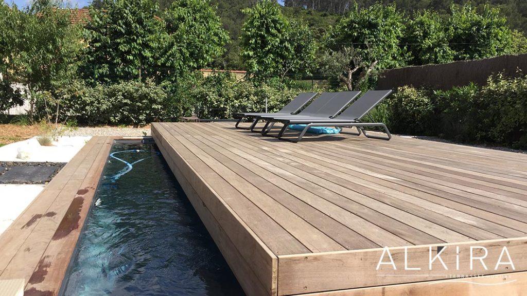 Terrasse piscine Ipé